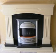 Victorian - Beige Marfil with Black back panel and hearth